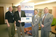 Iowa Veterans Home donated $2,500 in support of PLTW.