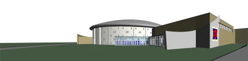 Marshalltown High School exterior perspective